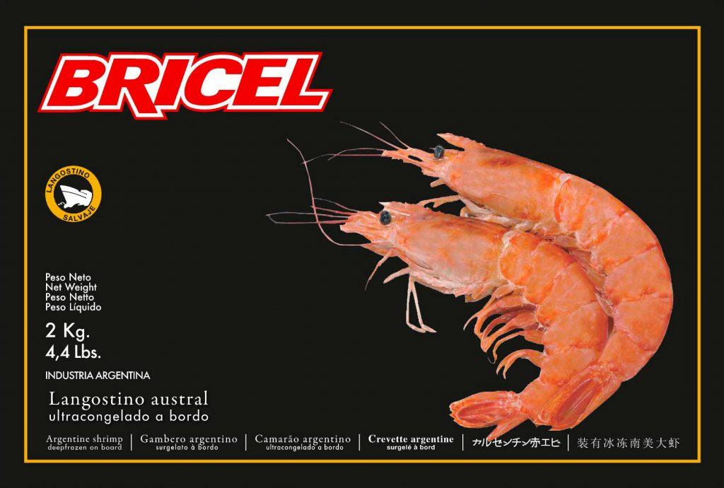 Bricel's Frozen Argentinian Shrimp case