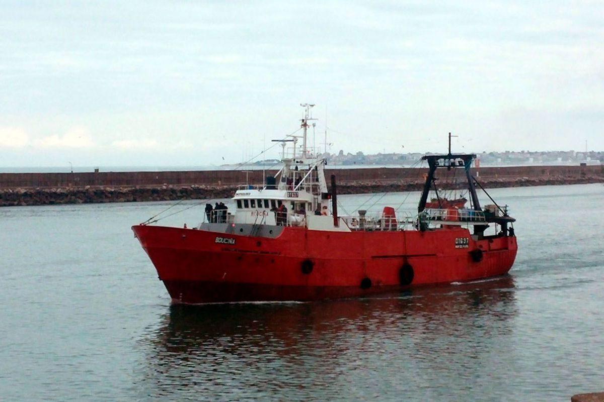 outrigger trawler Bouciña