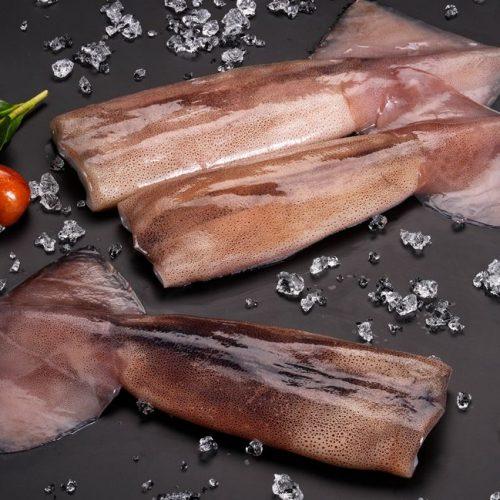 Frozen Argentine shortfin squid tubes